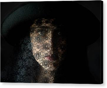 Hidden Face Canvas Print - The Widow by