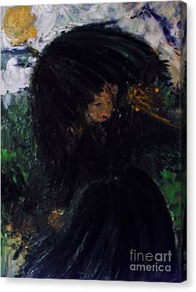 Canvas Print featuring the painting The Widow by Laurie Lundquist