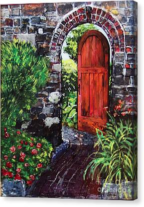 The Wooden Door Canvas Print by Lucia Grilletto