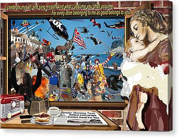 The World Collapsed On A Sunday Morning Canvas Print
