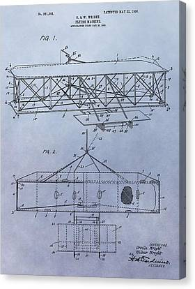 The Wright Brothers Airplane Patent Canvas Print