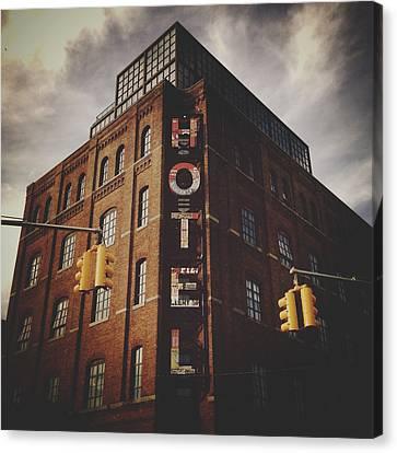 Navema Canvas Print - The Wythe Hotel by Natasha Marco