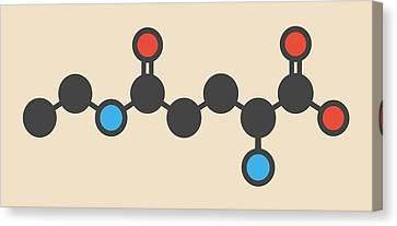 Theanine Herbal Molecule Canvas Print by Molekuul