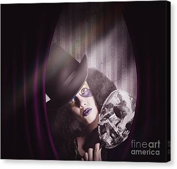 Theater Performer Play Acting Masquerade Show  Canvas Print by Jorgo Photography - Wall Art Gallery