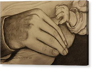 These Are The Hands That Love Me Canvas Print by Dan Wagner
