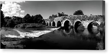 White River Scene Canvas Print - Thirteen Arch Bridge Over The River by Panoramic Images