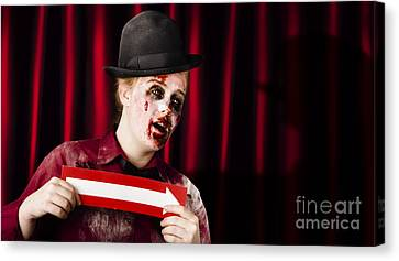 This Way To The Halloween Horror Show Canvas Print by Jorgo Photography - Wall Art Gallery