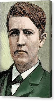 Thomas Alva Edison Canvas Print - Thomas Alva Edison (1847-1931 by Prisma Archivo
