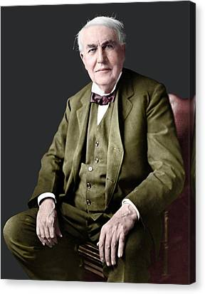 Thomas Edison Canvas Print by Library Of Congress