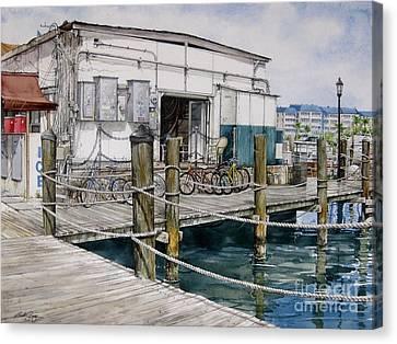 Thompson's Docks  Canvas Print by Bob  George