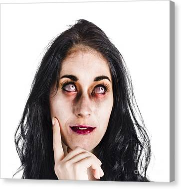 Ghostly Canvas Print - Thoughtful Zombie by Jorgo Photography - Wall Art Gallery