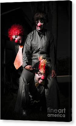 Three Clowns Having Fun Canvas Print