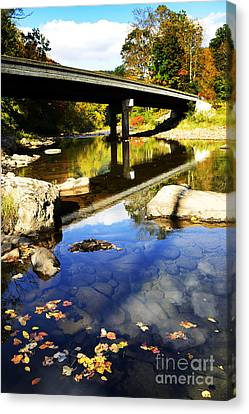 Three Forks Bridge Williams River Canvas Print by Thomas R Fletcher