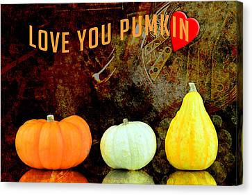 Three Small Pumpkins Canvas Print by Tommytechno Sweden