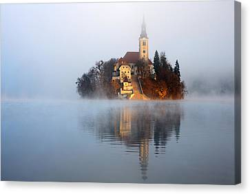 Through The Mist Canvas Print by Ian Middleton