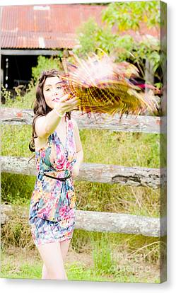Throw Your Hat Into The Ring Canvas Print