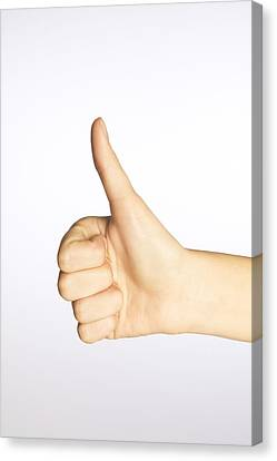 Thumbs Up Canvas Print by Alan Marsh