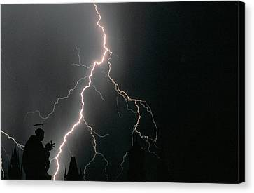 Thunder Storm In The Sky Canvas Print