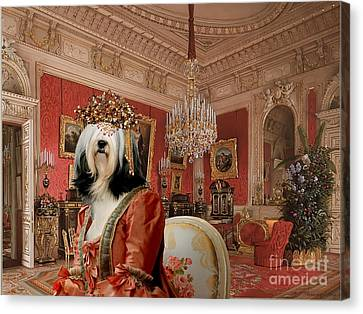 Tibetan Terrier Art Canvas Print Canvas Print by Sandra Sij