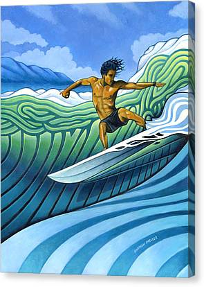 Tico Surfer Canvas Print by Nathan Miller