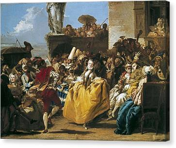 Tiepolo, Giovanni Domenico 1727-1804 Canvas Print by Everett