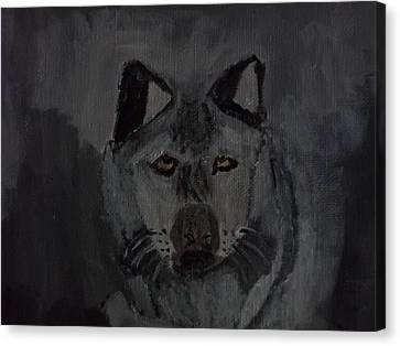 Timber Wolf Acrylic Painting Canvas Print by William Sahir House