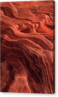 Time Worn Ceiling Of A Red Rock Niche Canvas Print by Jerry Ginsberg