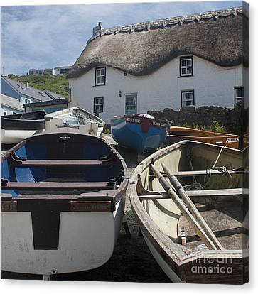 Tinker Taylor Cottage Sennen Cove Cornwall Canvas Print by Terri Waters