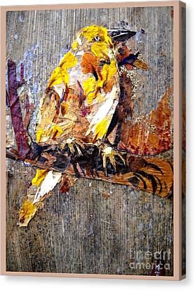 Animal Canvas Print - Tired Bird by Basant Soni