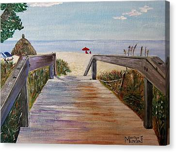 To The Beach Canvas Print by Marilyn  McNish