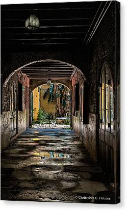 To The Courtyard Canvas Print by Christopher Holmes