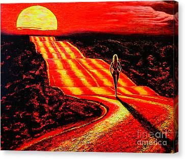 To The Sun Canvas Print by Viktor Lazarev
