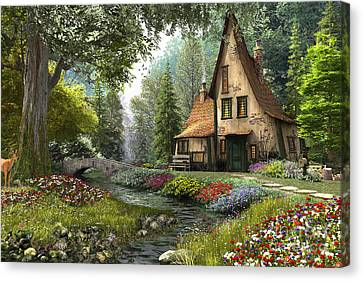 Toadstool Cottage Canvas Print by Dominic Davison