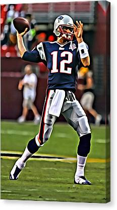 Tom Brady Canvas Print by Florian Rodarte