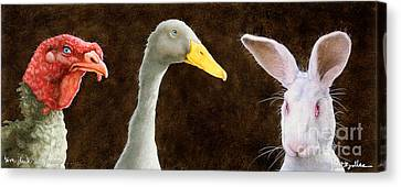 Tom Duck And Harry... Canvas Print by Will Bullas