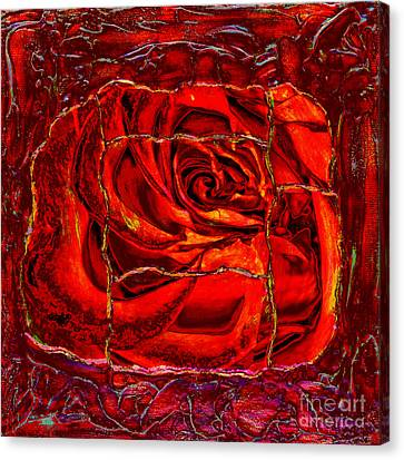 Torn Rose Canvas Print by Pattie Calfy