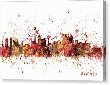 Toronto Canada Skyline Canvas Print by Michael Tompsett