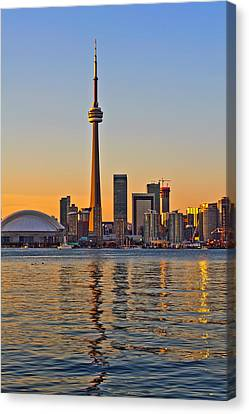 Canvas Print featuring the photograph Toronto City View by Marek Poplawski