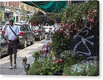 Toronto Flower Shop Canvas Print by John McGraw