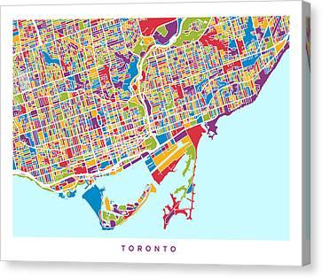 Toronto Street Map Canvas Print