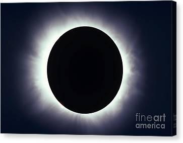 Total Solar Eclipse Taken Canvas Print
