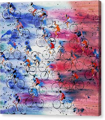 Red Canvas Print - Tour De France by Neil McBride