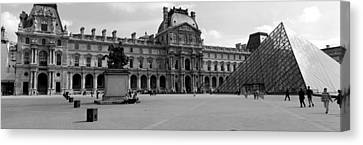 Tourists In The Courtyard Of A Museum Canvas Print by Panoramic Images