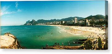 Tourists On The Beach, Ipanema Beach Canvas Print