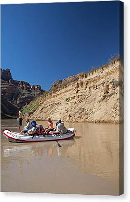 Tourists Rafting Canvas Print by Jim West