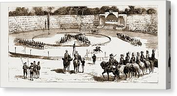 Tournament At Rome In Honour Of The Duke Of Genoa Canvas Print by Litz Collection