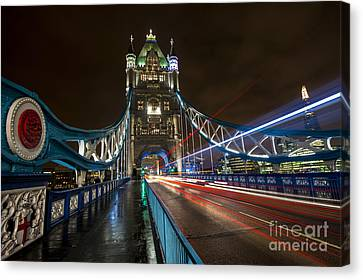 Tower Bridge London Canvas Print by Donald Davis