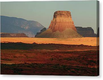 Tower Butte At Sunset, Glen Canyon Canvas Print by Michel Hersen