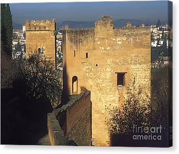 Historic Architecture Canvas Print - Tower Of The Cadi The Alhambra by Guido Montanes Castillo