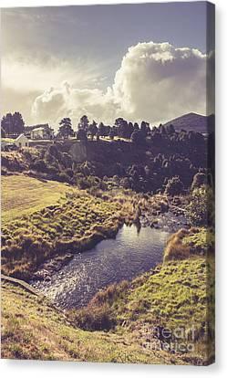 Town Of Waratah In Tasmania Australia Canvas Print